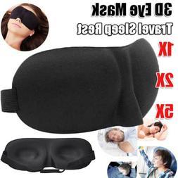 1/2/5CS 3D Eye Mask Sleep Soft Padded Shade Cover Blackout S