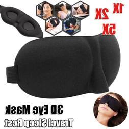 1/2/5PCS 3D Sleep Mask Sleeping Eye Cover Night Blindfold Wi