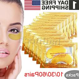 10-60Pairs Under Eye Mask Gold Collagen Patch Anti Wrinkle D