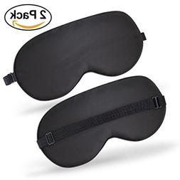 100% Silk Sleep Mask Pack of 2, Super Soft & Smooth Travel S