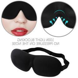 Travel Sleep Eye Mask 3D Memory Foam Padded Cover Sleeping B