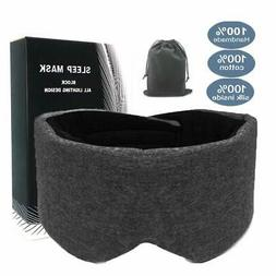 100% Handmade Cotton Sleep Mask Blackout - Comfortable and B