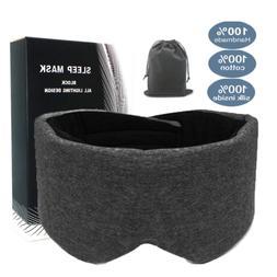 leeken 100% Handmade Cotton Sleep Mask, Eye Mask for Sleepin