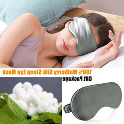 100% Mulberry Silk Sleep Eye Mask Padded Shade Cover Travel