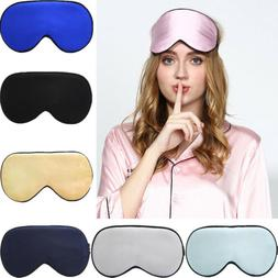 US 100% Pure Silk Sleeping Sleep Soft Eye Mask Blindfold Lig