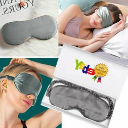 100% Silk Eye Mask Padded Shade Sleeping Aid Blindfold For A