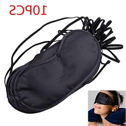 10Pc/Set Unisex Black Eye Mask Shade Cover Blinder Blindfold