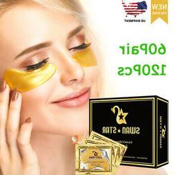 120Pcs Gold Eye Treatment Masks Under Eye Patches Under Eye
