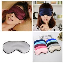 Soft Silk Sleep Eye Mask Padded Shade Cover Travel Relax Aid