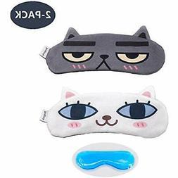 MicroBird Cat&Dog Cute Sleep Eye Mask with gel pad, Hot & C