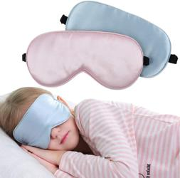 2 Pack Lonfrote Children Eye Mask Smooth Blindford for Trave