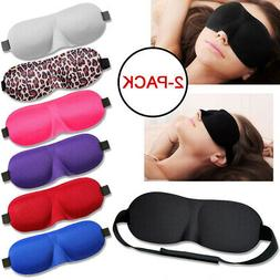 2-Pack Eye Mask Sleep Soft Padded Shade Cover Travel Sleepin