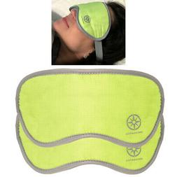 2 Padded Sleep Masks Soft Eye Pillow Covers Travel Blindfold