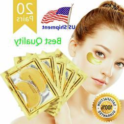20 Pairs Under Eye Mask Gold Collagen Eye Patch Anti Wrinkle