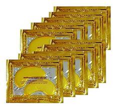 24K Gold Powder Gel Collagen Eye Masks Sheet Patch, Anti Agi
