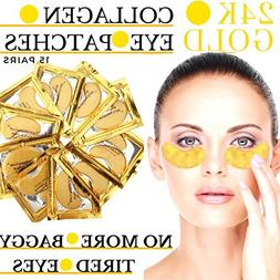 24k Gold Eye Mask - with Collagen by Vogue Effects , Hyaluro