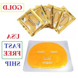 24K Gold Bio Collagen Facial Face Under Eye Mask Combo Anti