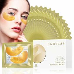 24K Golden Collagen Eye Pads - Gel Eye Mask for Eyes Treatme