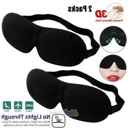 2x 3D Eye Mask Sleep Soft Padded Shade Cover Relax Sleeping