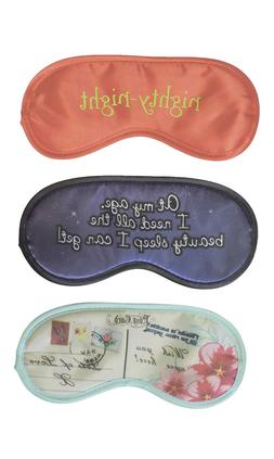 3 Poly Satin Printed Sleep Eye Mask