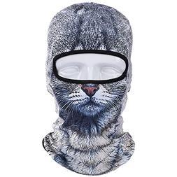 JIUSY Animal Balaclava Face Mask Breathable Wind Dust UV Hel