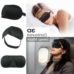 3D Cushioned Contoured Sleep Mask Eye Pillow Breathable Fabr