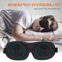 3D Eye Mask Sleep Soft Padded Shade Cover Rest Relax NEW Sle