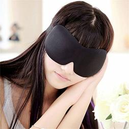 3D EYE MASK TRAVEL SLEEPING SOFT COVER SHADE BLINDFOLD SPONG