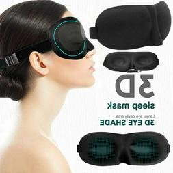 3D Eye Mask Travel Sleep Eyepatch Shade Sleeping Blindfold S
