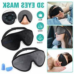 3D Eye Mask Travel Sleep Memory Foam Padded Eyepatch Shade S