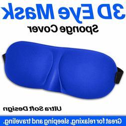 3D Eye Mask Unisex Soft Padded Blindfold Travel Sleeping Aid
