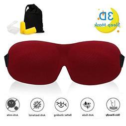 3D Sleep Mask 3-in-1 for Men and Women, Lightweight & Comfor