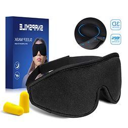 Snapsmile 3D Sleep Mask, Blindfold Eyeshade Eye Mask for Sle