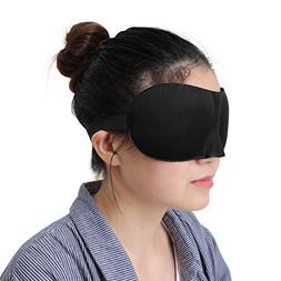 uxcell 3D Sleep Mask Deep Sleeping Eye Shade Cover Travel Ai