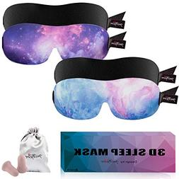 PrettyCare 3D Sleep Mask  Eye Mask for Sleeping - Best Conto