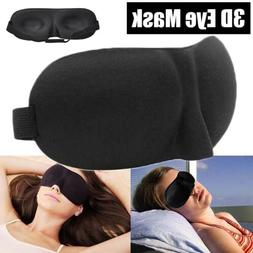 3D Sleep Eye Mask Sleeping Cover Contoured Padded Night Blin
