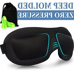 AMAZKER 3D Sleep, Eye Masks for Sleeping with Ear Plug and C