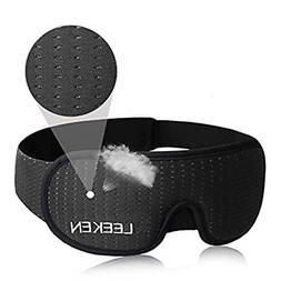 LEEKEN 3D Sleeping Eye Mask - 100% Lights Blockout Sleep Mas