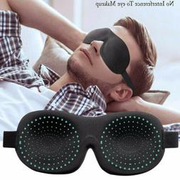 3D Travel Eye Mask Shade Eyepatch Rest Sleep Memory Padded B
