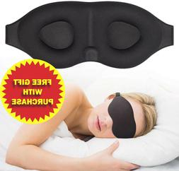 3D Travel Sleep Eye Mask Eyepatch Memory Foam Padded Shade S