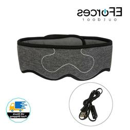 EForces 3D USB Heated Eye Mask with Temperature Control,Soft