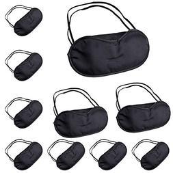 5/10 Pcs Eye Mask Shade Cover Blindfold Night Sleeping Black