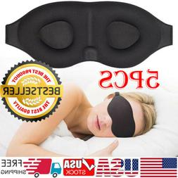 5x 3D Travel Sleep Eye Mask Eyepatch Memory Foam Padded Shad
