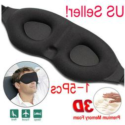 Travel 3D Eye Mask Sleep Soft Padded Shade Cover Relax Sleep