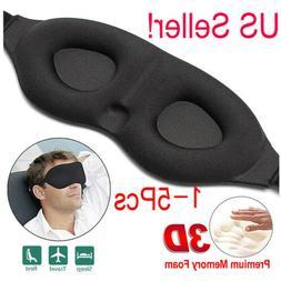 Travel 3D Eye Mask Sleep Soft Padded Shade Cover Relax Sleep