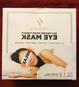 6 PACK JUVE NATURALS SELF HEATING AROMATHERAPY EYE MASK EXP
