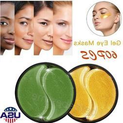 60Pcs Green Seaweed Hydrogel Eye Patch Eye Mask Collagen Gel