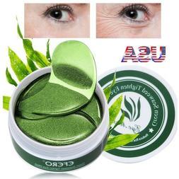 60pcs green tea collagen eye mask under