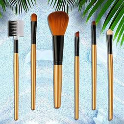 6Pcs Makeup Brushes Tool Eye Shadow Eyeliner Eyelash Mascara