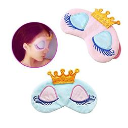 AKOAK Pack of 2 Cute Girl's Travel Princess Crown Sleeping E